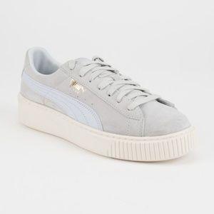 Womens Puma Suede Platform Shoes Rare